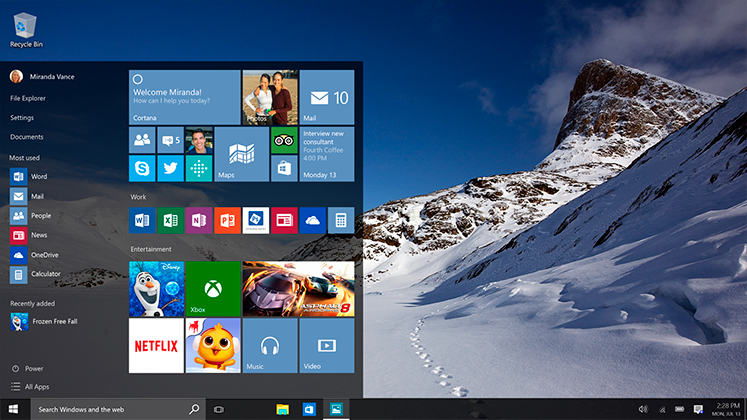 Windows 10 - features | Sygest Srl