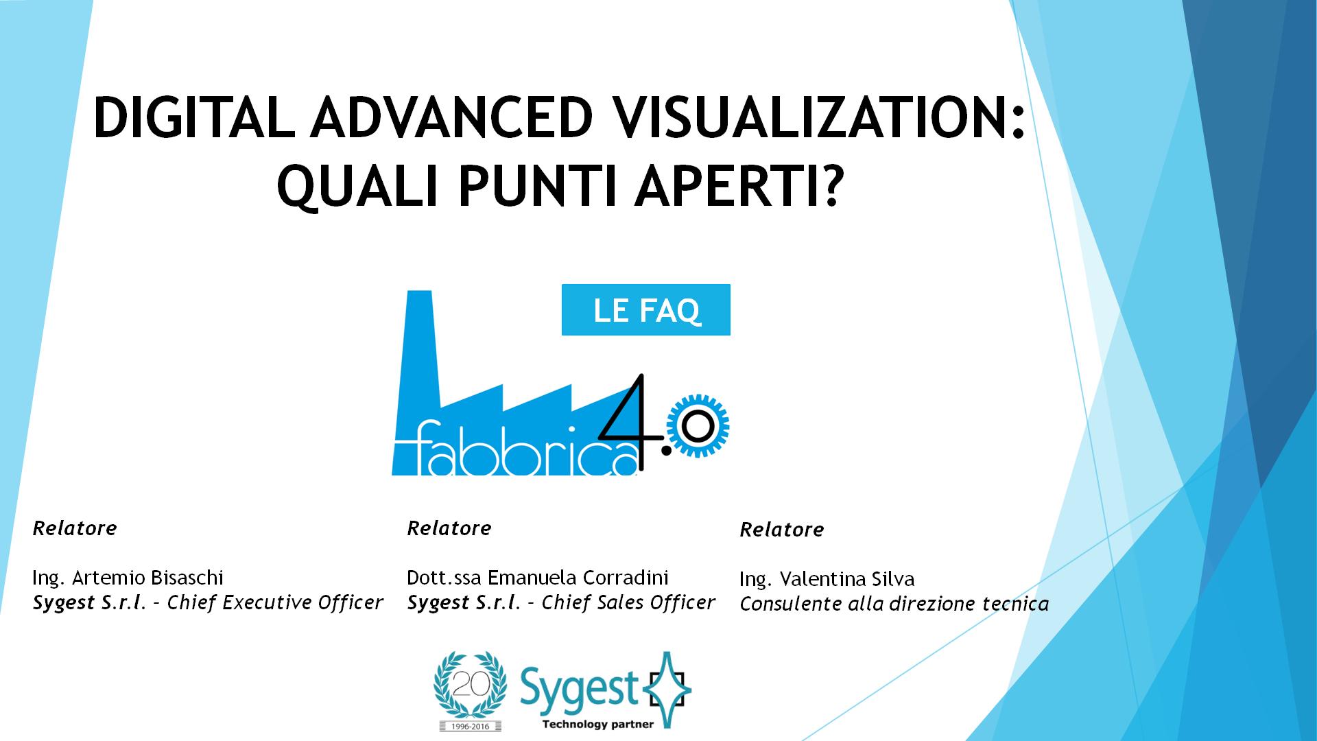 Fabbrica 4.0 - Digital Advanced Visualization   Sygest