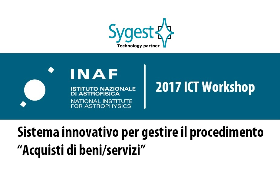 INAF - 2017 ICT Workshop | Sygest Srl
