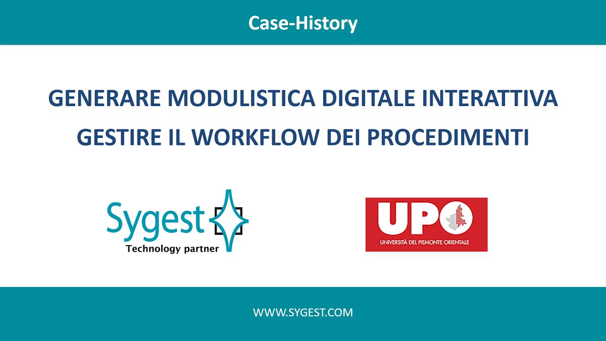 Modulistica digitale interattiva - gestione del workflow dei procedimenti | Sygest