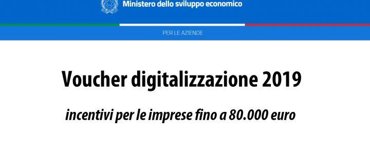 Voucher digitalizzazione 2019 - MISE | Sygest Srl