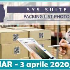Packing List Photo – Webinar 3 aprile 2020