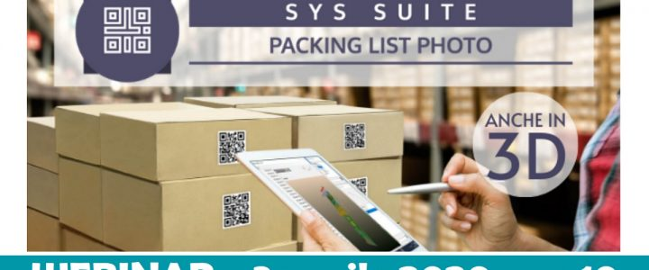 Packing List Photo - Webinar | Sygest Srl