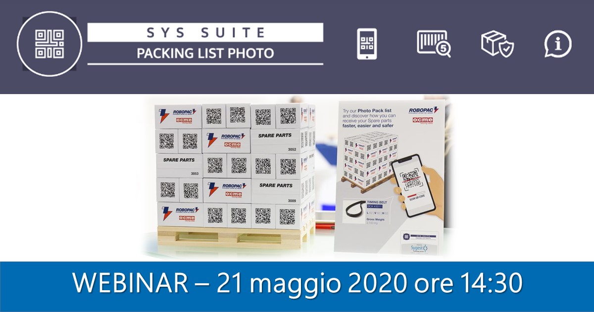 Packing List Photo - Webinar 21 maggio 2020 | Sygest Srl
