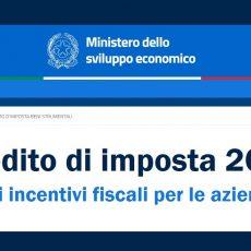Nuovo credito di imposta 2020