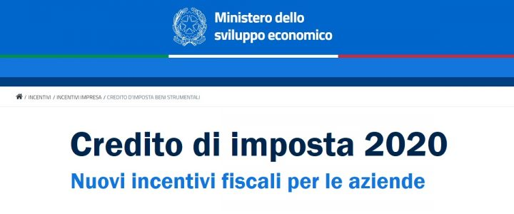 Credito di Imposta 2020 - Nuovi incentivi fiscali per le aziende | Sygest Srl